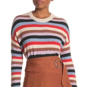 NWT Madewell Striped James Pullover Sweater